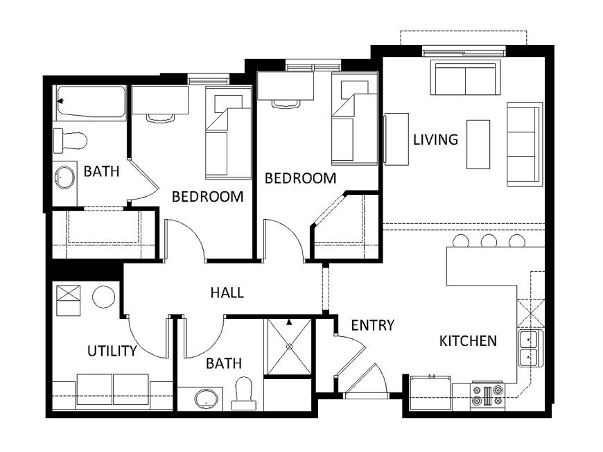 planimetria casa 2d
